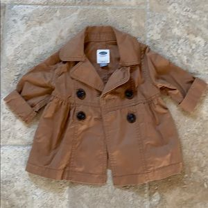 Old navy size 18-24 brown light weight pea coat